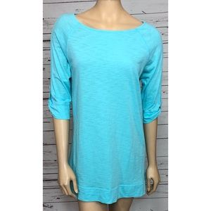 Lilly Pulitzer Womens Blue Tunic TShirt Medium